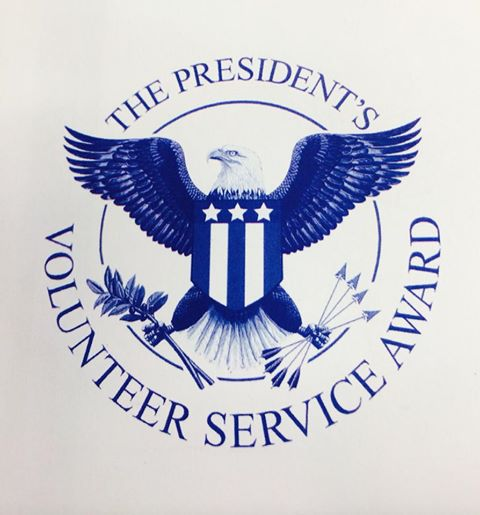 Cornerstone Christian Counseling staff awarded The Presidents' Volunteer Service Award.